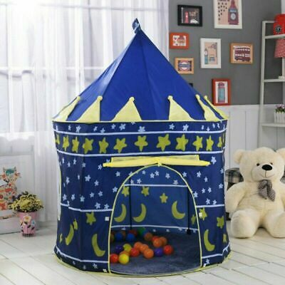 Children Fun Play Tent Kids Princess Pink Castle Pop-up Indoor Outdoor Playhouse • 12.99£