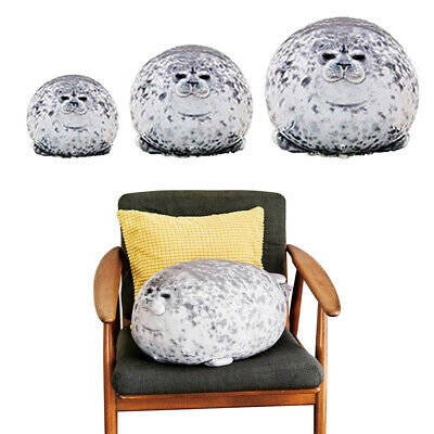 30/40/60cm Chubby Blob Seal Plush Pillow Animal Toy Ocean Animal Stuffed Doll • 9.95£