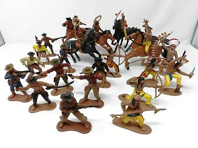 Cowboys And Indians. Unknown/Unbranded. Soft Plastic. 1/32. VGC. • 16.99£