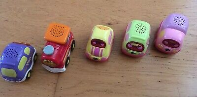 Vtech Toot Toot Assorted Vehicles X 5 Pastel Shades + Train • 16.99£