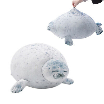 Chubby Blob Seal Plush Toy Animal Cute Ocean Pillow Pet Stuffed Doll Kids Gift • 10.99£