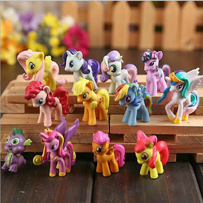 12 Pcs My Little Pony Rainbow PVC Action Figure Cake Topper Kids Girl Toys Doll • 5.99£