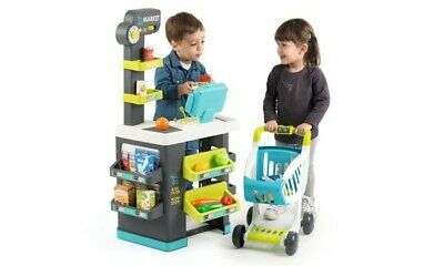 Smoby 350218 Fresh City Market With Trolley Perfect Pretend Play Set • 69.99£