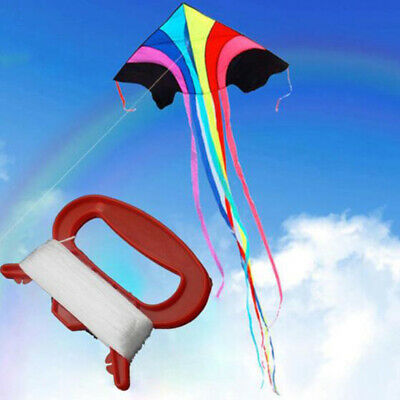 50m Outdoor Sports Fly Kite Line String With D Shape Winder Board Tool Ki~jp • 3.64£
