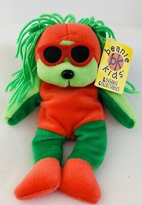 Vintage Skansen Beanie Kids, Mello The Red And Green Bear, Doll, 1999, Toy, #25 • 13.85£