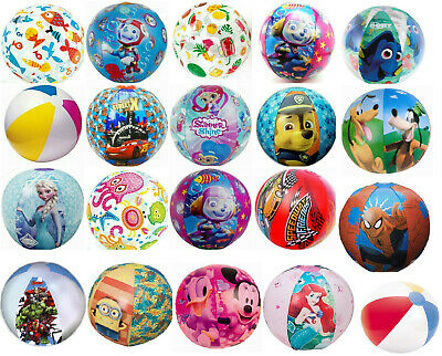 Disney Princess Frozen Cars Paw Patrol Kids Girls Boys Inflatable Beach Ball • 2.99£