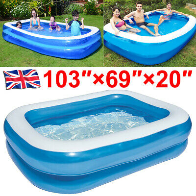 Large Family Swimming Pool Garden Outdoor Summer Inflatable Kids Paddling Pools • 29.99£