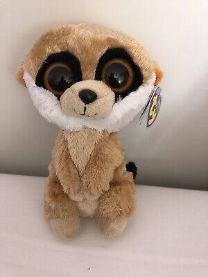 Rare Ty Beanie Boo Boos REBEL Meerkat Soft Toy - TAGS!   • 10£