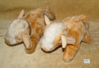2x PLUSH Soft TOY JERSEY COW CALF With MOO SOUND CAN TUSH TAG 1x SPARES 1x WORKS • 9.99£