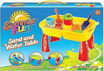 Children Kids Sand And Water Table Girls & Boys Sandpit Outdoor Garden Play Pit • 19£
