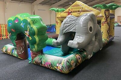 Airquee Jungle Theme Playzone Bouncy Castle Used  • 750£