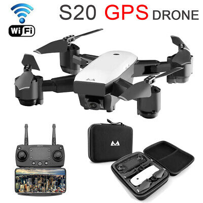 S20 Drone 5G WIFI FPV 1080P Camera Dual FPV Foldable RC Quadcopter 4 Channels • 94.99£