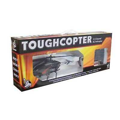 Toughcopter 3.0 Channel Remote Controlled Helicopter Black LED Tail Lights UK • 15.89£