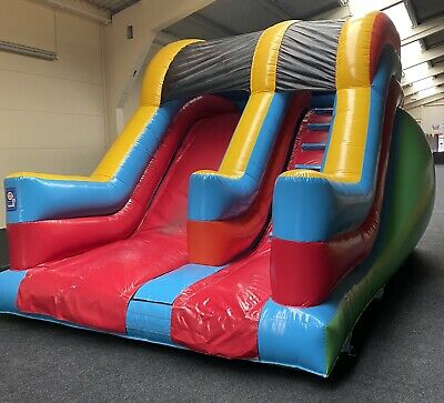 Airquee 8FT Bouncy Castle Platform Slide Colourful Hire Castle • 800£