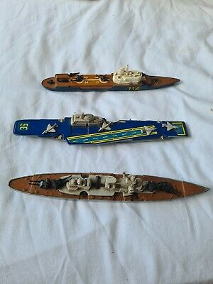 Vintage Seakings X3 K304 Aircraft Carrier/k303 B-ship/k307 Helicopter Carrier  • 10£