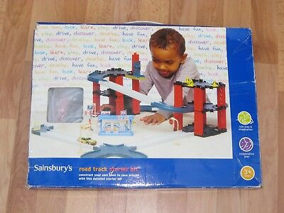 Road Track Starter Set Garage  For Cars By Sainsbury's • 3£