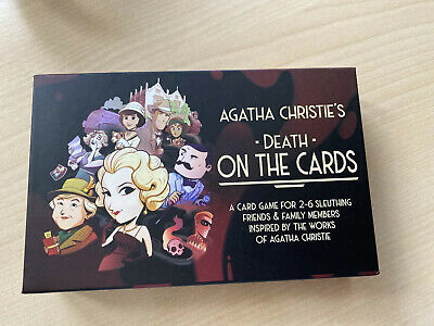 Agatha Christie's Death On The Cards Strategy Card Game New • 5£