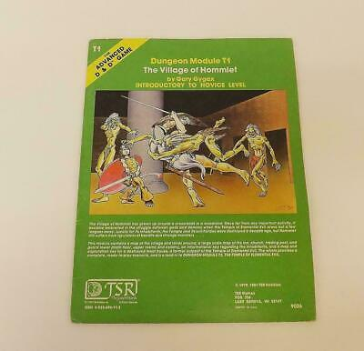 Advanced Dungeons And Dragons AD&D The Village Of Hommlet 9026 Module T1 TSR • 39.99£