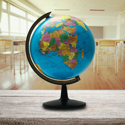 Rotating World Globe Map Earth 25cm Geography Kids Children Bedroom Home Decor • 13.59£