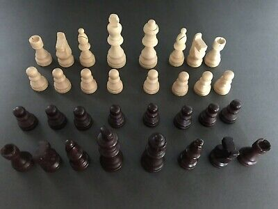 85mm (King) Wooden Chess Pieces ONLY - No Board • 4.99£