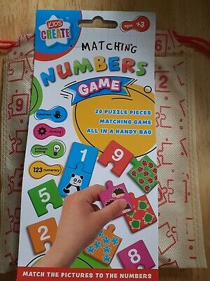 Number Matching Game With Carry Bag • 4£