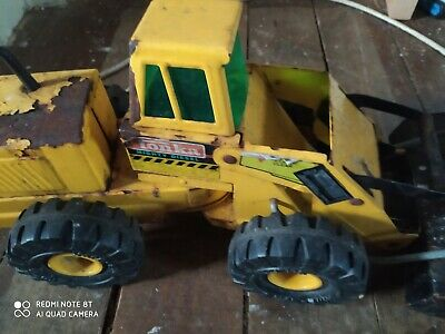 VINTAGE  TONKA  Mighty BULLDOZER PRESSED STEEL , YELLOW • 15£