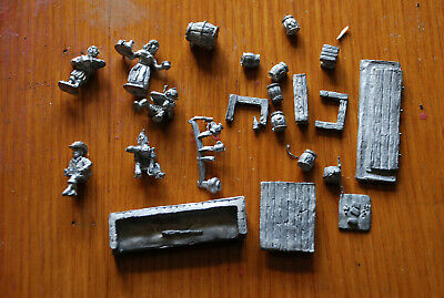 28mm Scale Metal Rare OOP Tavern/ Bar Set Job Lot With Serving Wench Etc • 39£