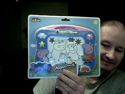 Kids Peppa Pig Magna Doodle Etch A Sketch Variant Ideal Home Drawing Toy  • 12£