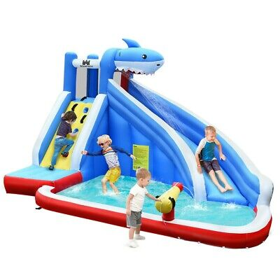 Kids Inflatable Bouncy Castle Pool Water Slide With Bag • 378£