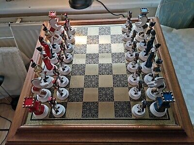 Chess Set And Board Napolenonic Pieces.  • 35£