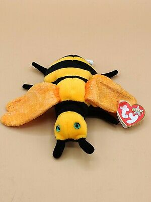 Buzzie The Bee Ty Beanie Babies Baby Plush Soft Toy With Tags • 2£