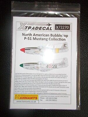 Xtradecal 1/72 North American Bubbletop P-51 Mustang Collection X72270 • 7£