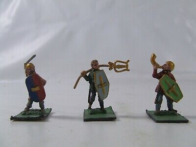 Historical Painted Metal Miniatures Qty 3 Approx 35mm Medieval • 9.25£