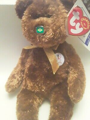 Ty Champion The Baby Beanie Baby. World Cup 2002 Korea/japan * Brazil* • 2.99£