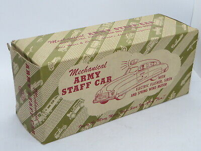 Vintage EMPTY BOX For Tinplate Toy MARX MECHANICAL ARMY STAFF CAR RARE • 99.99£