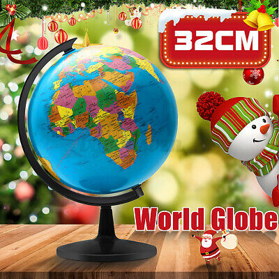 32cm Earth Globe World Map Rotating Geography Education Kids Children Gift Decor • 22.79£