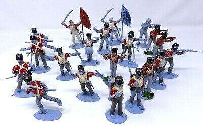 Vintage Timpo Napoleonic British Infantry X 20. Action Pack Figures. • 9.99£