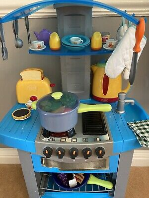 Kids Play Kitchen With Accessories Sounds Lights Kettle Toaster Over 40 Items • 19£