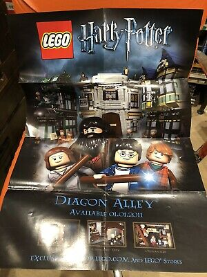 Brand New Limited Edition Lego Harry Potter Diagon Alley Poster Freepost • 4.95£