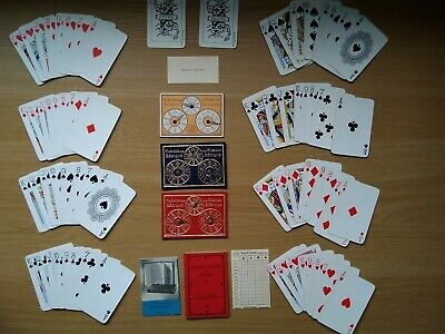 Vintage Bezique Card Game With Score / Marker Cards, Instructions Complete 1933 • 9£