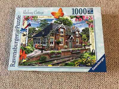 Ravensburger 1000 Piece Jigsaw Puzzle Railway Cottage Used Once • 5£