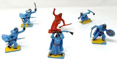 Vintage Crescent Arab 50mm Toy Soldiers X 6. Near Full Set. • 12.99£