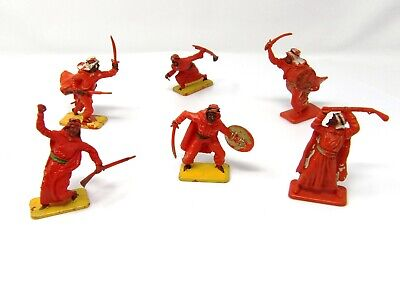 Vintage Crescent Arab FULL SET OF 6. Toy Soldiers 50mm. • 19.99£