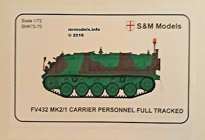 S&M Models 1/72 FV432 Mk2/1 Carrier Personnel New Plastic Model Kit SM S & M • 15.95£