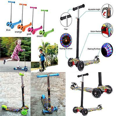 Adjustable 3 Wheel Kid Push Kick Scooter Light Up For Girls And Boys • 19.99£