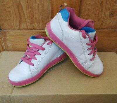 Heelys Size 4 Pink And White • 9.99£