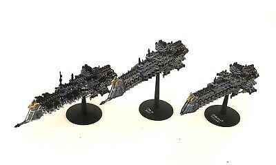 3 Battlefleet Gothic Imperial Space Ships Bfg Painted Lot 1 • 10.51£