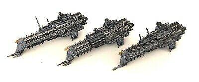 3 Battlefleet Gothic Imperial Space Ships Bfg Painted Lot 3 • 12.01£