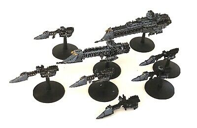 3 Battlefleet Gothic Imperial Space Ships Bfg Painted Lot 4 • 19£