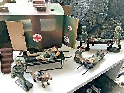 Vintage Elastolin / Lineol / Armee Soldiers 1/24  70 Mm Ideal For Field Hospital • 110£